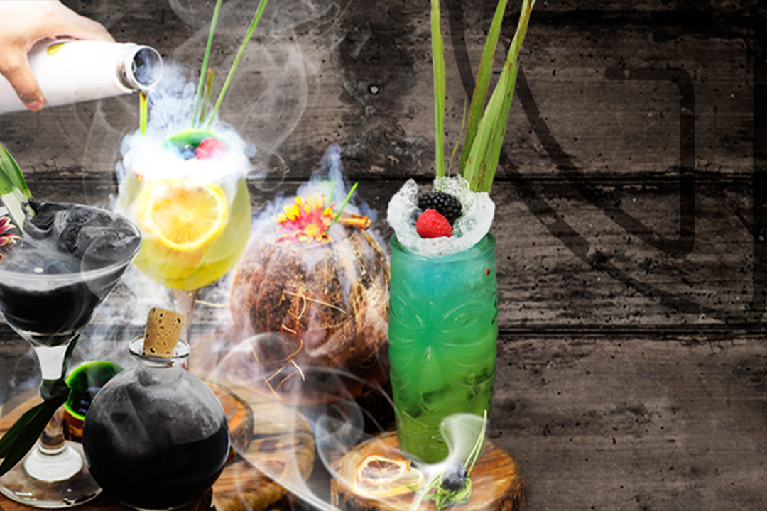 Mixology based on the 4 elements: air, earth, fire and water